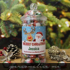 Christmas Chocolates Jar