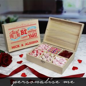 Be My Valentine  Wooden Sweet Box - Personalise Me