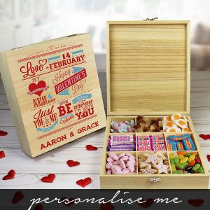Be My Valentine Wooden Sweet Box - 'Personalise Me'