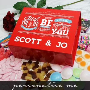 Be My Valentine Deluxe Sweet Box - Personalised Me