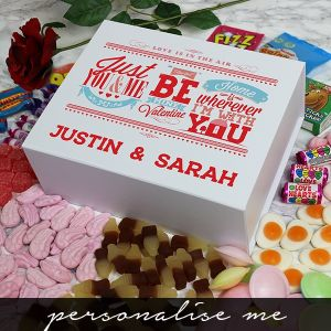 Be My Valentine Deluxe Sweet Box - Personalise me
