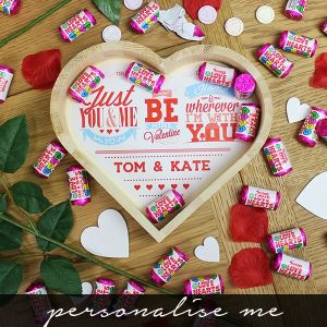 Be My Valentine Wooden Love Heart - personalised me