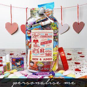 Be My Valentine Sweet Jar - Large - Personalise Me