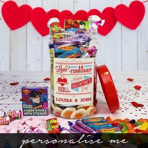 Be My Valentine Sweet Jar - Personalised Me