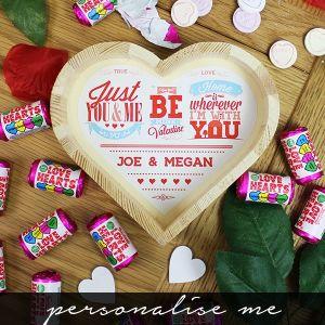 Be My Valentine Wooden Love Heart - Personalsie Me