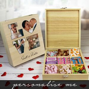 LOVE' Photo Gift - 9 Compartment Sweet Box