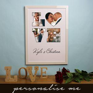 LOVE' Photo Gift - Framed Print White