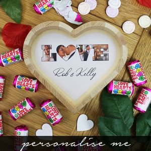 LOVE' Photo Gift - Small Wooden Sweet Heart