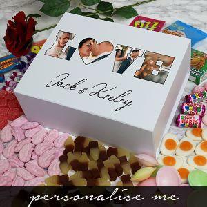 LOVE' Photo Gift - Deluxe White Retro Sweet Box