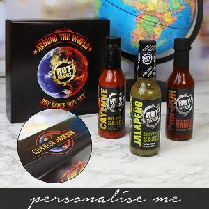 Around the world Hot Sauce Box