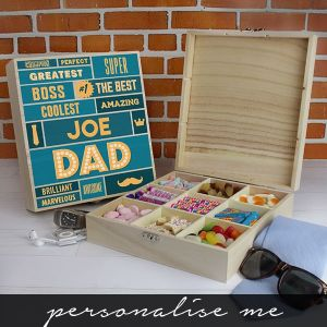 Best Dad - 9 Compartment Wooden Sweet Box