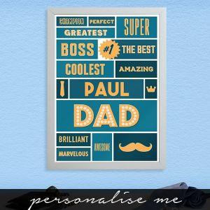 Best Dad - A3 Framed Print