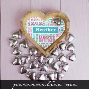Best Mum - Chocolate Heart Tray