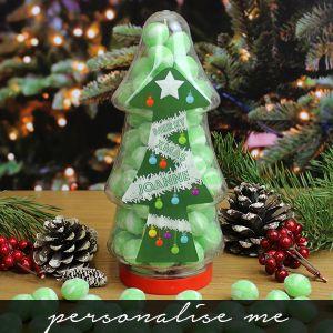 Christmas Tree Sweet Jar G&T Personalise me