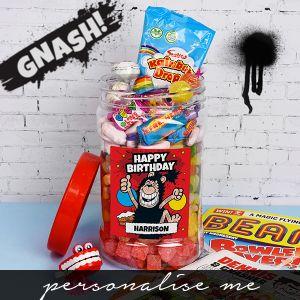 Gnasher - 'Happy Birthday' Retro Sweet Jar
