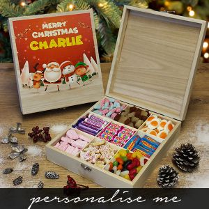 Kids Christmas Wooden Sweet Box