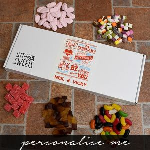 Be My Valentine Letterbox Sweets