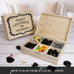 Finest Liquorice Wooden Sweet Box