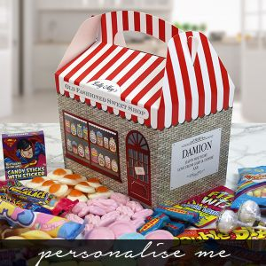 Personalised Old Fashioned Sweet Shop Box