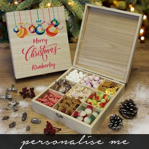 Merry Christmas - Wooden Sweet Box