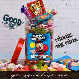 Minnie - 'Happy Birthday' Retro Sweet Jar