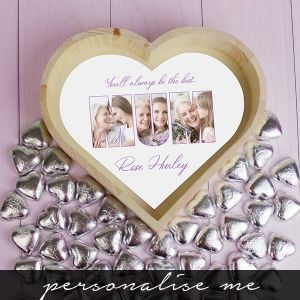 MUM Photo Gift - Chocolate Heart Tray - Large