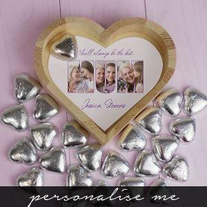 MUM Photo Gift - Chocolate Heart Tray - Small