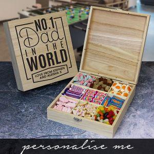 No.1 Dad Wooden Sweet Box