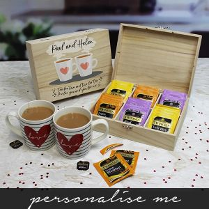 Tea for Two 6 Compartment Storage Box - English Teas