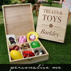 Pet Treats & Toys Wooden Box