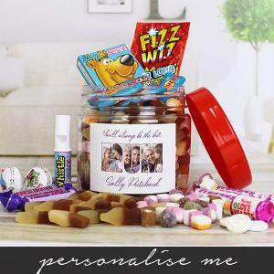 MUM photo gift - retro sweet taster jar