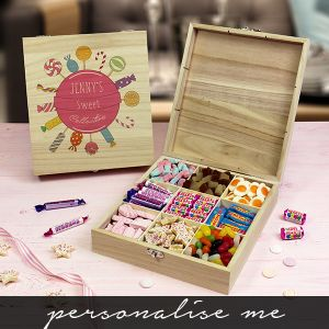 Pink Collection - Wooden Sweet Box. Lifestyle Photo