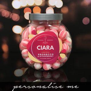 Prosecco & Strawberry Sweet Jar - New
