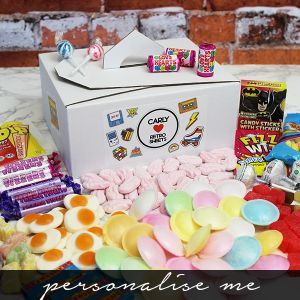 Retro Sweet Tuck Box with sweets