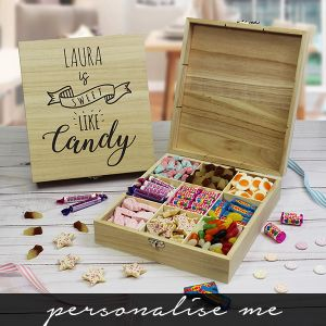 Sweet like Candy - Wooden Sweet Box. Lifestyle Photo
