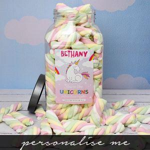 Giant Fluffy Unicorn Tails Sweet Jar