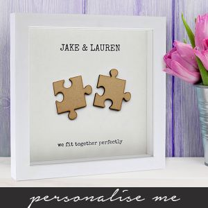 we fit together jigsaw pieces hand finished poster lifestyle shot