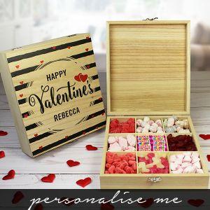 Wooden Valentine Sweet Box